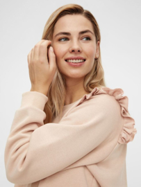 Mama Licious Blanca L/S Sweat Top Peach Pink