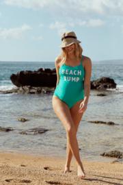 Mama Licious Mlminia Print Swimsuit HC Green