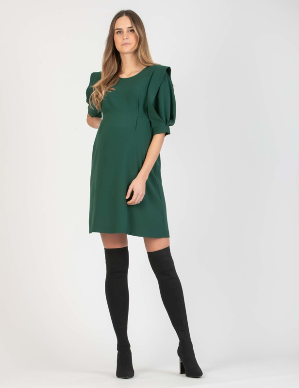 Attesa Dress Manico Petalo Green