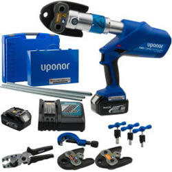 Uponor S-Press accu-persmachine in koffer 16/20/25 mm