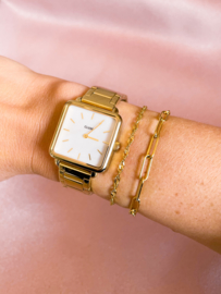Armbandje gedraaid basic goud