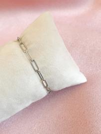Armbandje schakels zilver