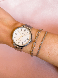 Armbandje gedraaid basic zilver