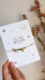 Kaartje I love you tot the moon and back