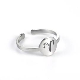 Ring - Sterrenbeeld Zilver
