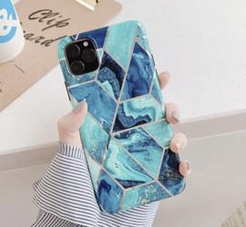 iPhone X/XS/XS-MAX Marmer Luxe Blauw