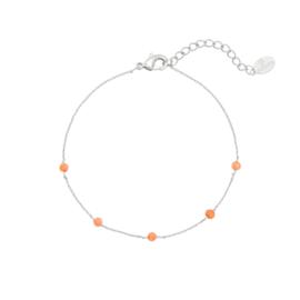 Armbandje - Dots Oranje