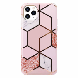 iPhone X/XS/XS-MAX Marmer Luxe Roze