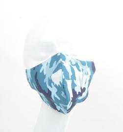 Mondkapje ID - Camouflage Blauw