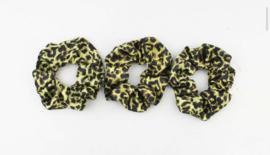 Scrunchie - Leopard Geel
