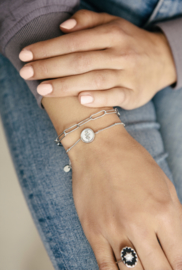 Armband - Roos Zilver