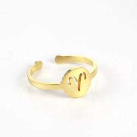 Ring - Sterrenbeeld Goud