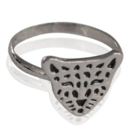 Ring - Leopard Hoofdje