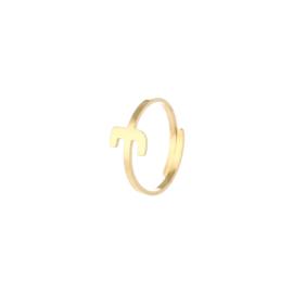 Ring - Letter Sun Goud