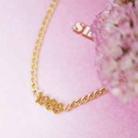 Armband - Geboortejaar (goud)