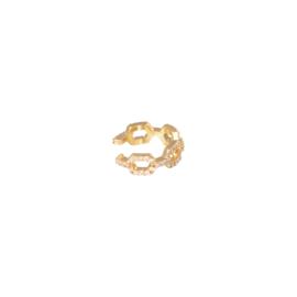 Earcuff - Diamond Linked