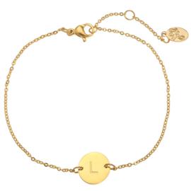 Armband - Initialen Goud