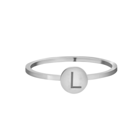 Ring - Initial Zilver #18