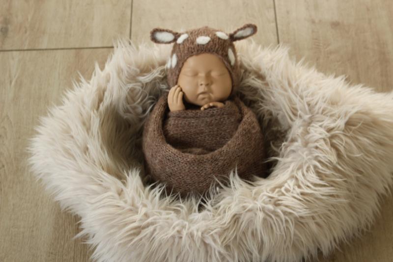 2 Delige newborn set brushed alpaca