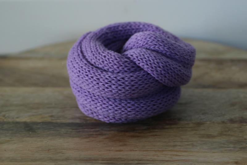 Gebreide wrap lavendel