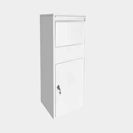 Pakketbrievenbus wit voor pakketten maat S en L