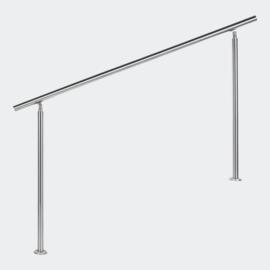 Leuning balustrade traprail rvs 160cm