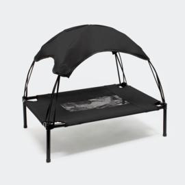 Hondenbed met luifel draagbaar small zwart 60x45x50cm