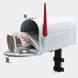 US Mailbox Brievenbus Amerikaans Design wit muurbevestiging