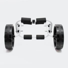 Bootwagen trolley Kajak Kano tot 45 kg met PU-wielen en nylon riem
