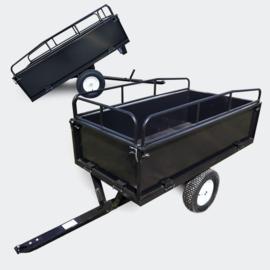 Kiepkar kipper aanhangwagen zitmaaier zwart tot 300kg