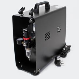 Airbrush-compressor AF-196A met 2 cilinders 2-staps schakelaar