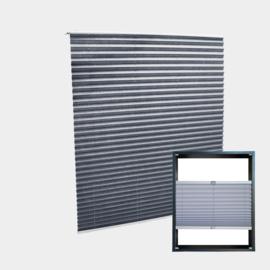Jaloezie vouwgordijn grijs 45x100cm