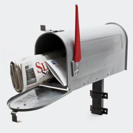 US Mailbox brievenbus Amerikaans Design zilver muurbevestiging