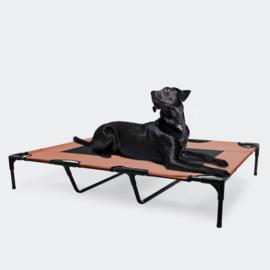 Hondenbed verhoogd ligbed bruin XL tot 30kg 122 x93x20cm