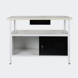 Werktafel gereedschapskast wit/zwart