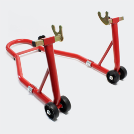 Inrijwielklem motorfiets standaard achterwiel (450kg) rood