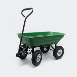 Kiepwagen tuinwagen kipper kruiwagen 55l groen