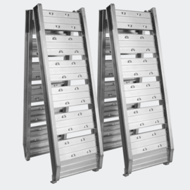 Oprijplaat opvouwbaar draagbaar aluminium 2 stuks 182cm 400kg