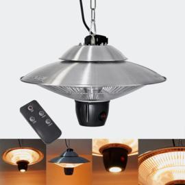 Plafondverwarming halogeen 600 / 1200W met afstandsbediening