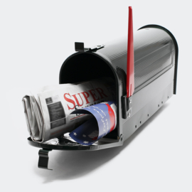 US Mailbox Amerikaans Design zwart losse brievenbus