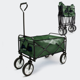 Handkar bolderkar groen met laadruimte 80x46cm