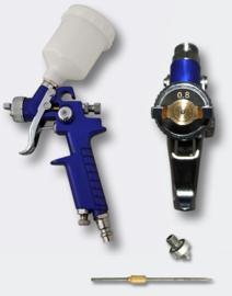 HVLP-spuitpistool H2000 mondstuk van 0,5 en 0,8 mm