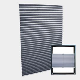 Jaloezie vouwgordijn grijs 45x150cm