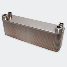 Warmtewisselaar platenwarmtewisselaar 40 platen 165 kW