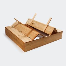 Zandbak dichtklapbaar zandbak met bankje in hout