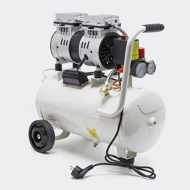 Olievrije luchtcompressor met 24L-tank 0,95HP 110l/m en 700W