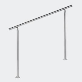Leuning balustrade traprail rvs 120cm
