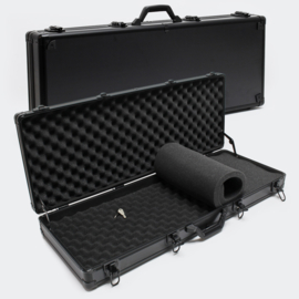 Pistoolkoffer wapenkoffer zwart met noppenschuim 4 sloten