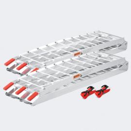 Oprijplaat opvouwbaar draagbaar aluminium 2 stuks 226cm 680kg