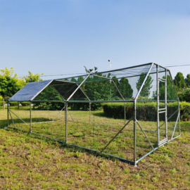 XXL Open Overkapping 6x3x2m Kippenhok met zonnescherm en deur
